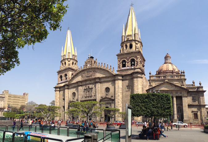 Guadalajara's cheery cathedral