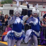 Hello, sailors! Mermaids on parade.