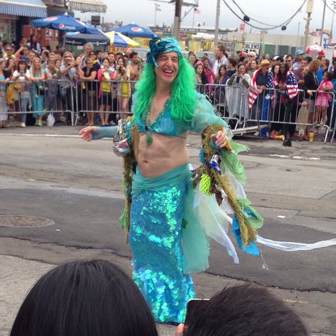 Mermaid mid-twirl