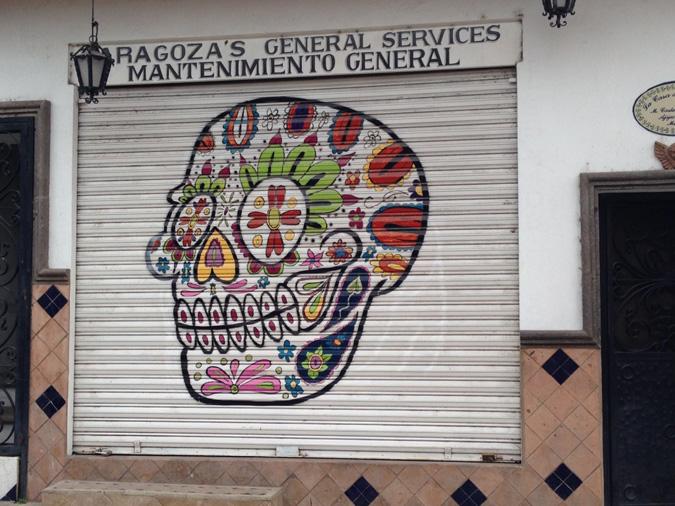 Happy skull art