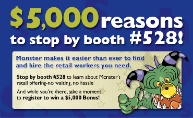 monster direct mail postcard