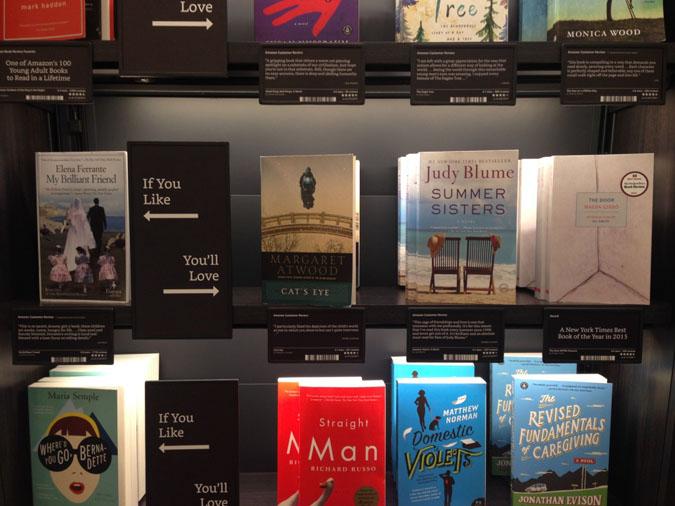 amazon bookstore if then shelf