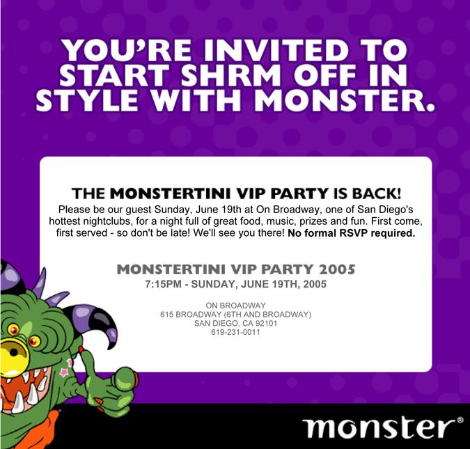 monster shrm invite