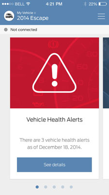 vha alert ford mobile app