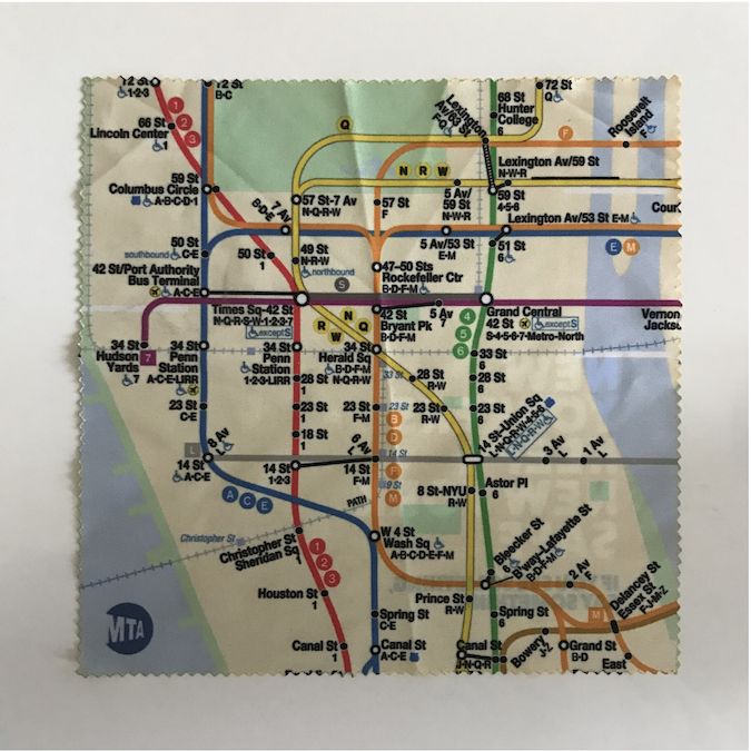 A map of the NYC subway featuring midtown