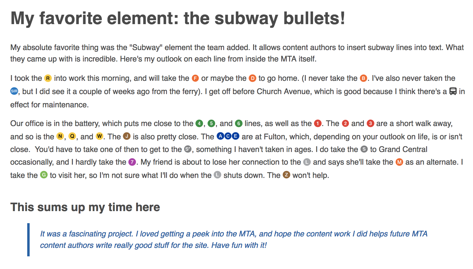 text featuring subway icon emoji